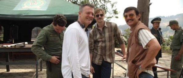 Chris Brancato on the Set of NARCOS