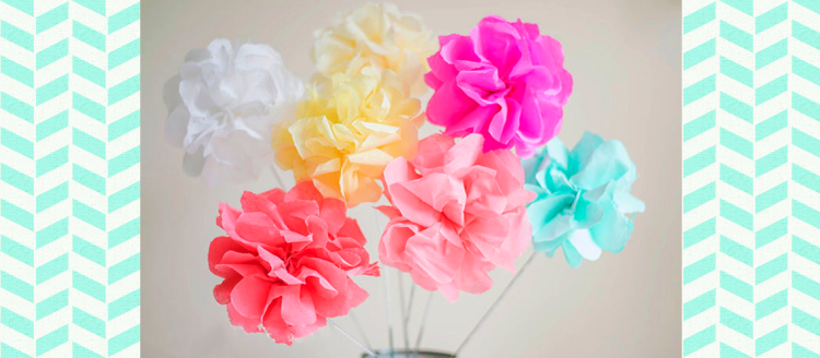 DIY Crepe Paper Flowers by Let's Do Something Crafty