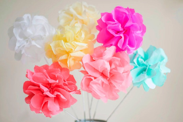 DIY Crepe Paper Flowers (Image Credit: Let's Do Something Crafty)