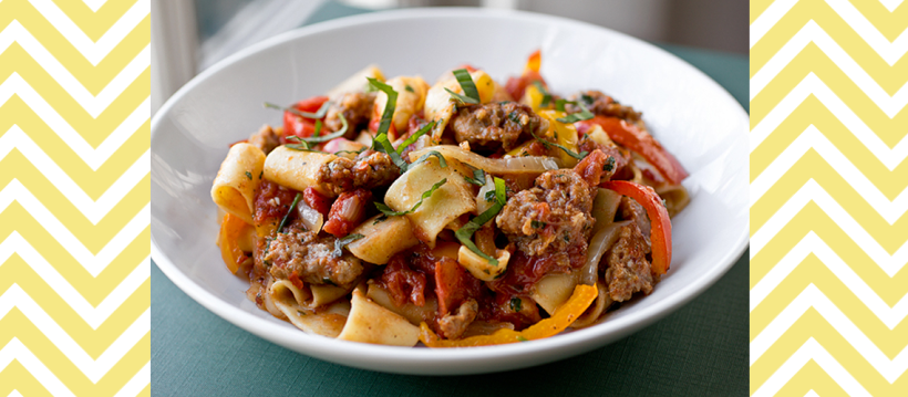 Italian Drunken Noodles (Image Credit: The Cozy Apron)