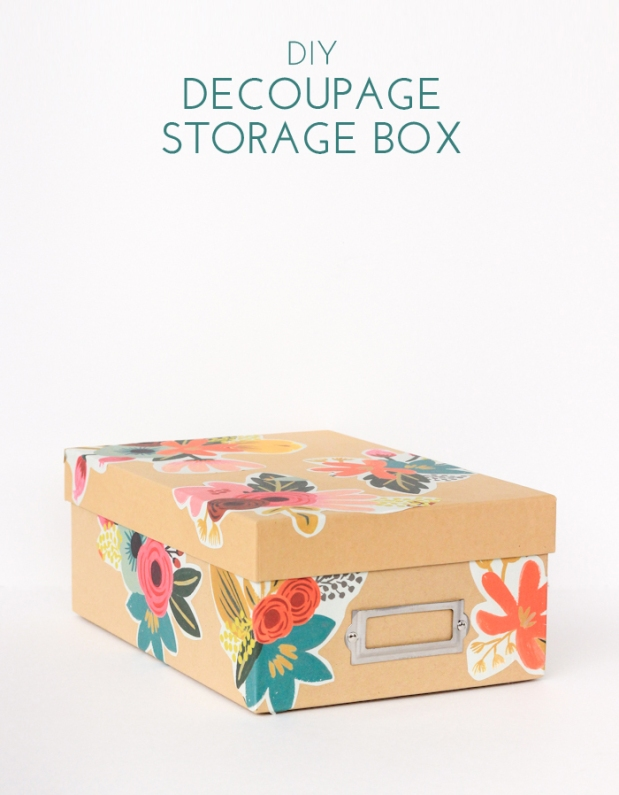 DIY Decoupage Storage Box (Image Credit: The Crafted Life)