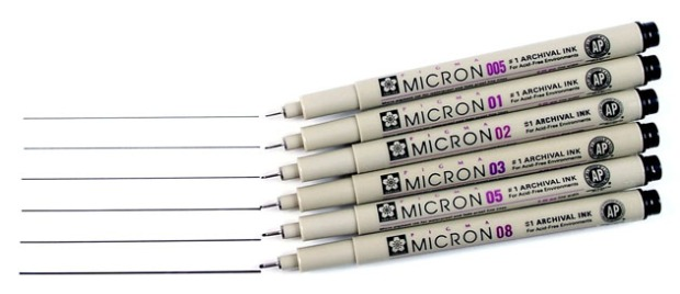 Sakura Pigma Micron Pens (Image Credit: Discount Art Supplies)