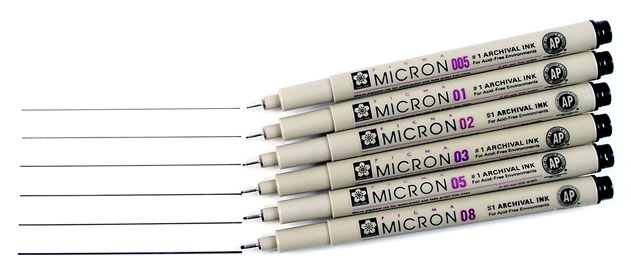 Sakura Pigma Micron Pens (Image Credit: Discount Art Supplies)